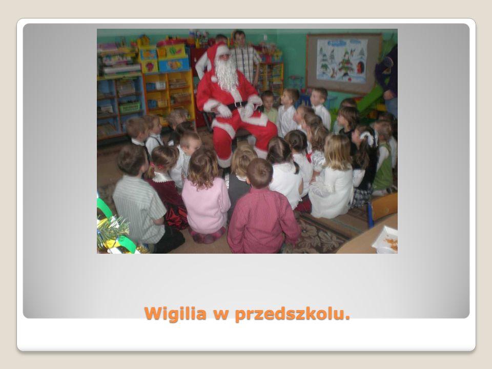 Wigilia w przedszkolu.