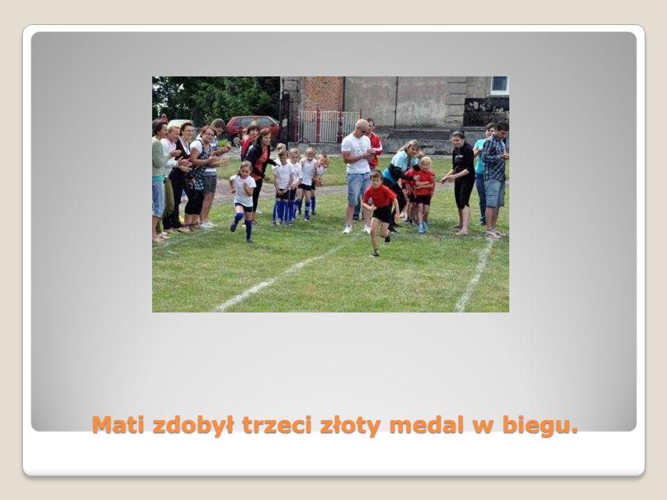 Mati zdobył trzeci złoty medal w biegu.