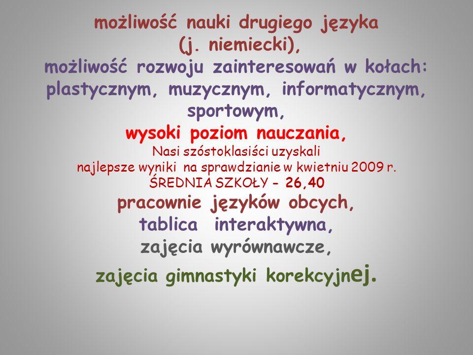 możliwość nauki drugiego języka (j
