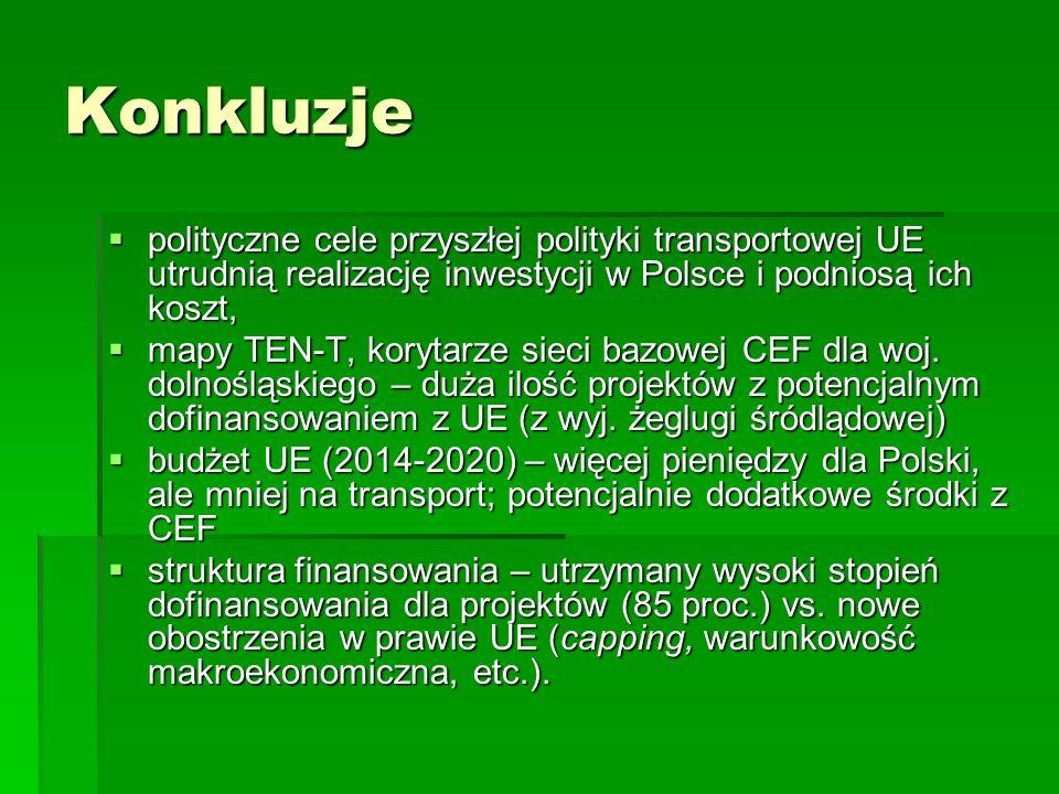 Konkluzje polityczne cele przyszłej polityki transportowej UE utrudnią realizację inwestycji w Polsce i podniosą ich koszt,