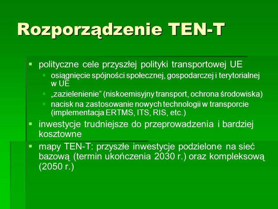 Rozporządzenie TEN-Tpolityczne cele przyszłej polityki transportowej UE. osiągnięcie spójności społecznej, gospodarczej i terytorialnej w UE.