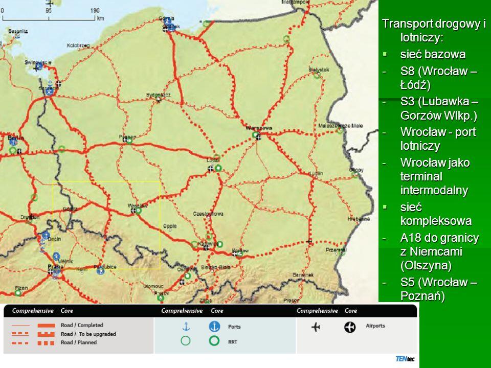 Transport drogowy i lotniczy: