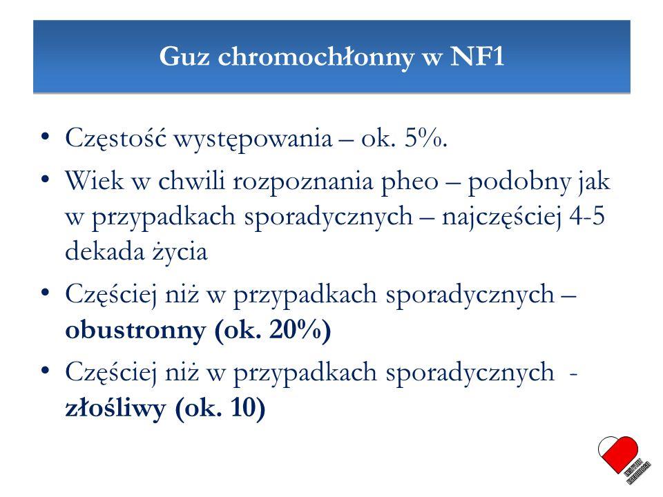 INSTYTUT KARDIOLOGII Guz chromochłonny w NF1