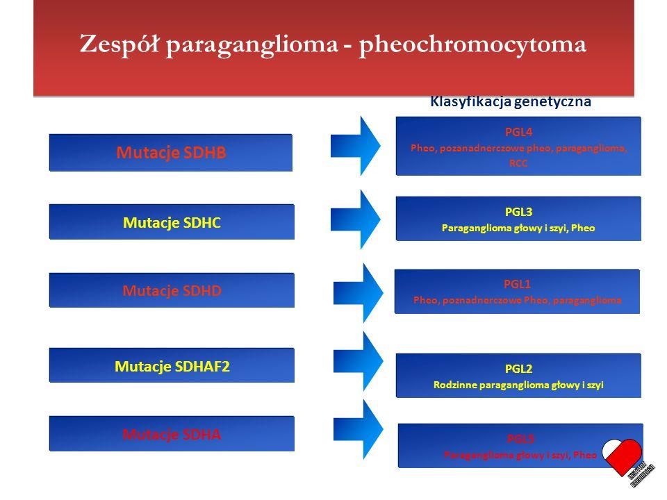 INSTYTUT KARDIOLOGII Zespół paraganglioma - pheochromocytoma