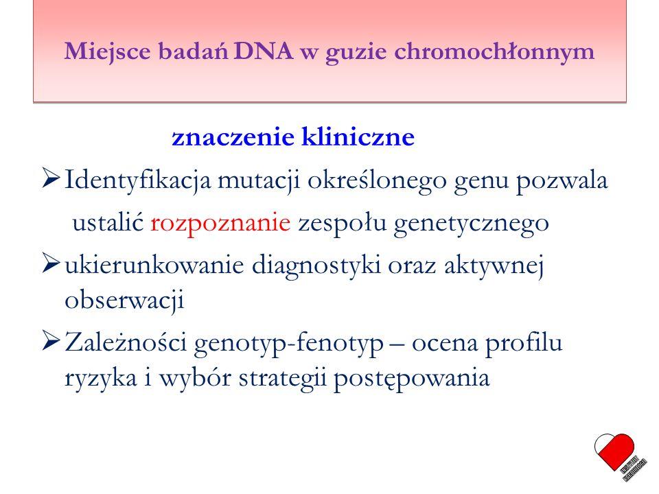 Miejsce badań DNA w guzie chromochłonnym