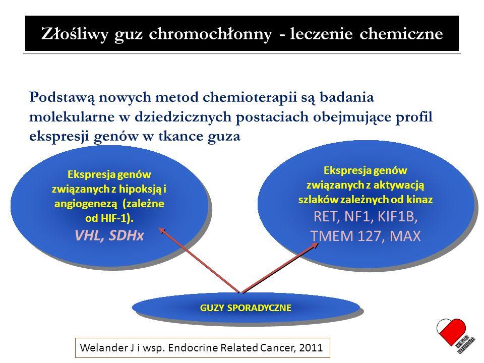 INSTYTUT KARDIOLOGII Złośliwy guz chromochłonny - leczenie chemiczne