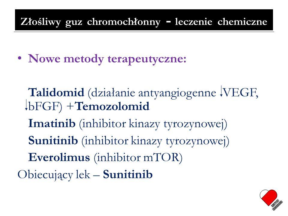 Złośliwy guz chromochłonny - leczenie chemiczne