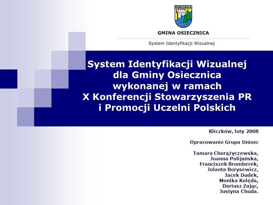 System Identyfikacji Wizualnej dla Gminy Osiecznica wykonanej w ramach X Konferencji Stowarzyszenia PR i Promocji Uczelni Polskich