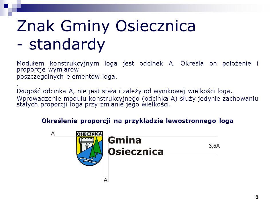 Znak Gminy Osiecznica - standardy