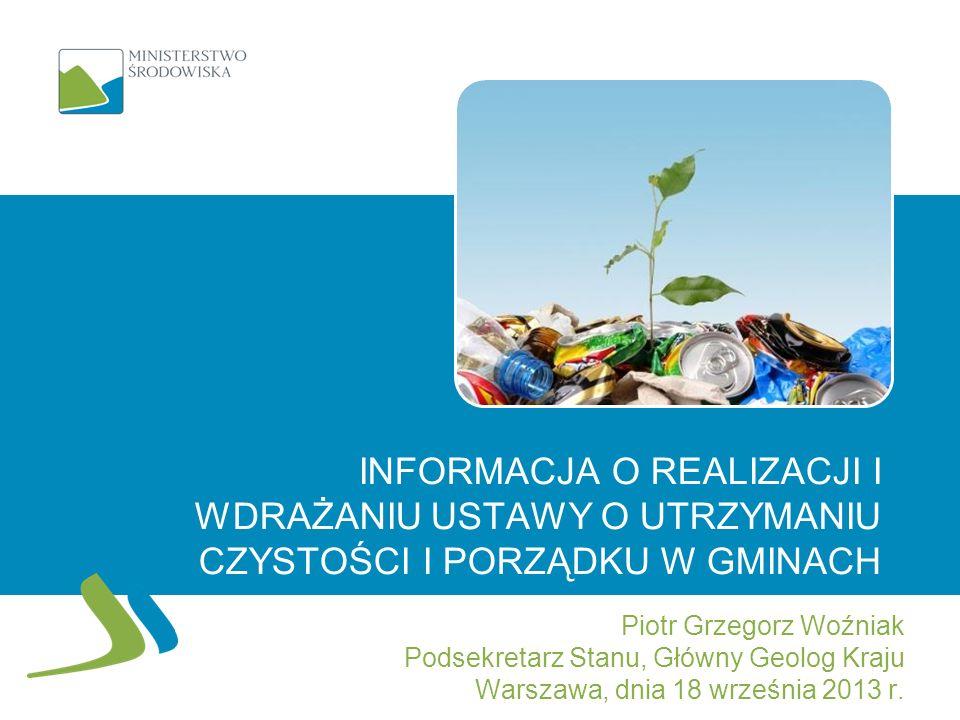 Informacja o realizacji i wdrażaniu ustawy o utrzymaniu czystości i porządku w gminach
