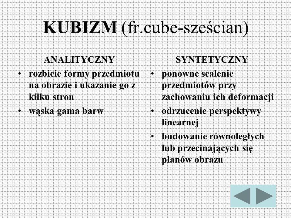 KUBIZM (fr.cube-sześcian)