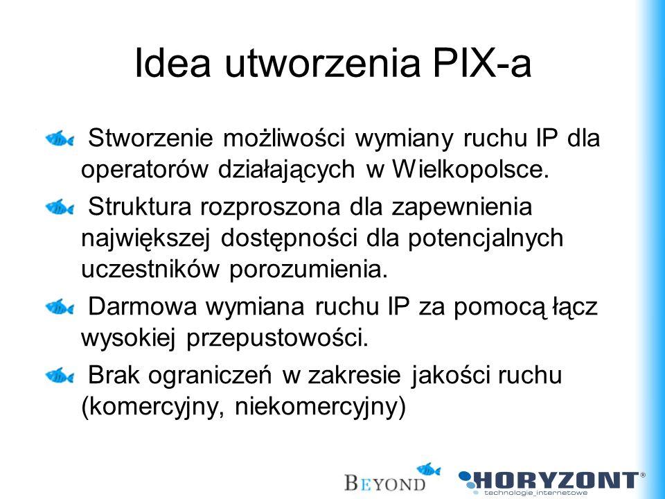 Idea utworzenia PIX-a Stworzenie możliwości wymiany ruchu IP dla operatorów działających w Wielkopolsce.