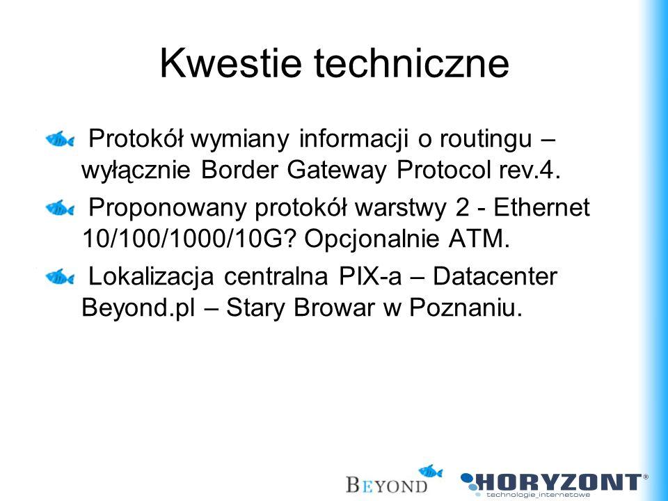 Kwestie techniczne Protokół wymiany informacji o routingu – wyłącznie Border Gateway Protocol rev.4.