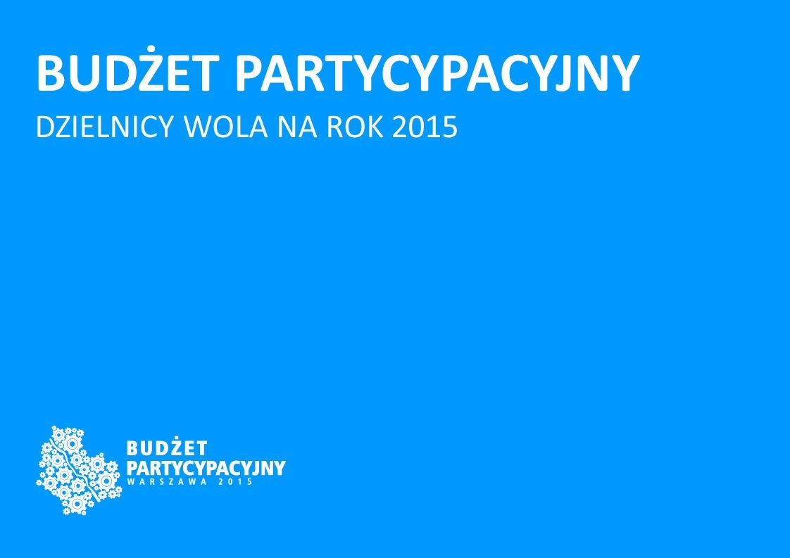 BUDŻET PARTYCYPACYJNY DZIELNICY WOLA NA ROK 2015