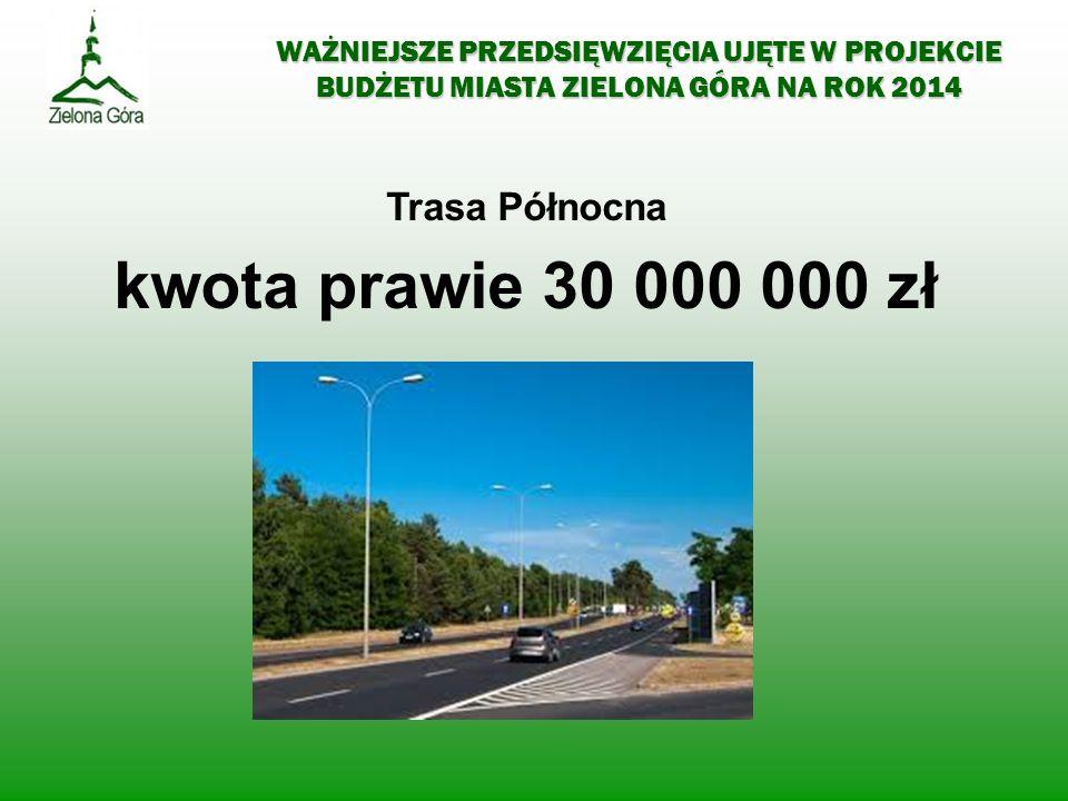 kwota prawie 30 000 000 zł Trasa Północna