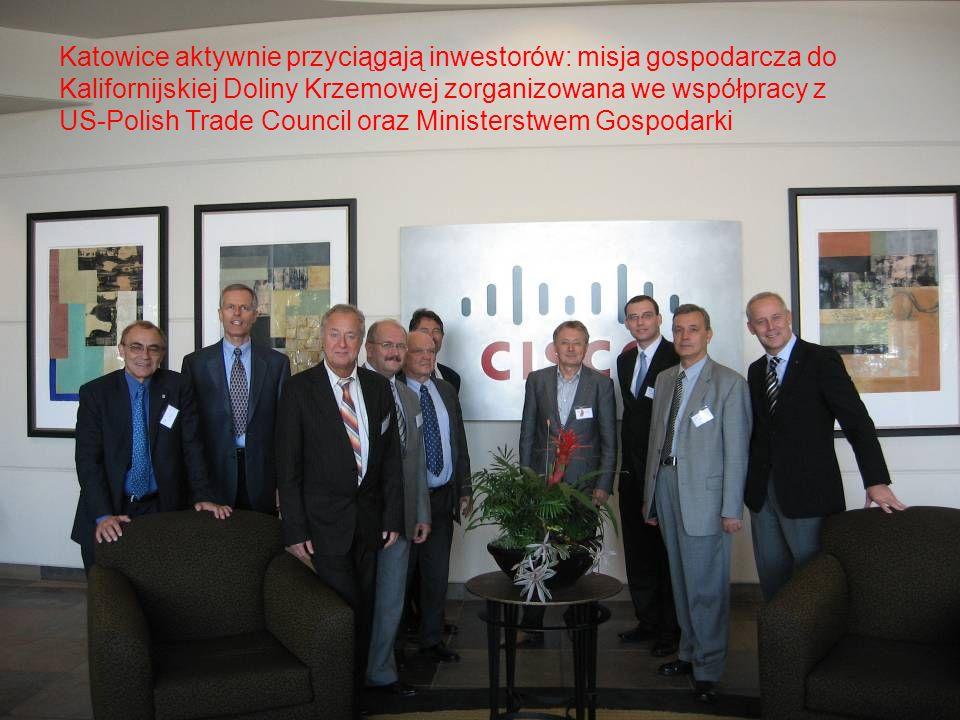 Katowice aktywnie przyciągają inwestorów: misja gospodarcza do Kalifornijskiej Doliny Krzemowej zorganizowana we współpracy z US-Polish Trade Council oraz Ministerstwem Gospodarki