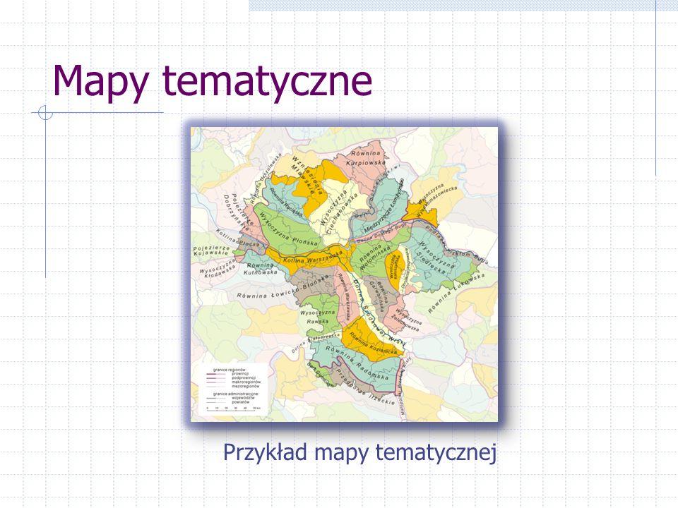 Przykład mapy tematycznej