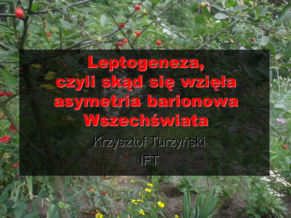 Leptogeneza, czyli skąd się wzięła asymetria barionowa Wszechświata