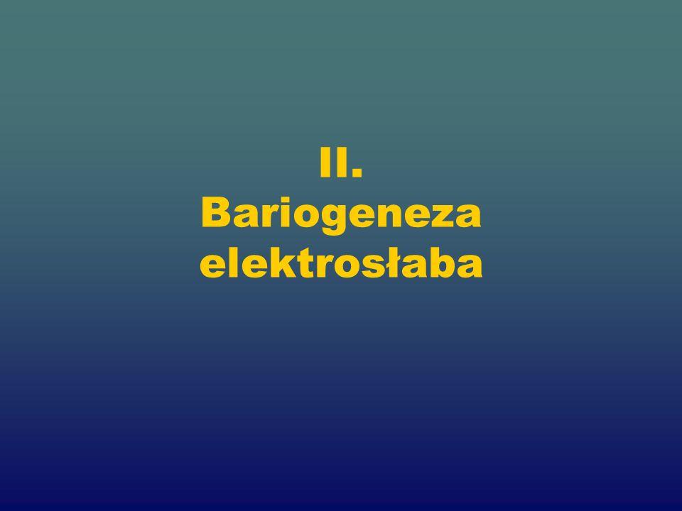 II. Bariogeneza elektrosłaba