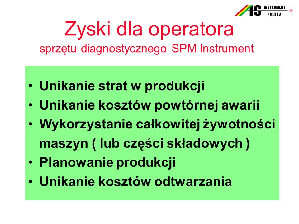 Zyski dla operatora sprzętu diagnostycznego SPM Instrument