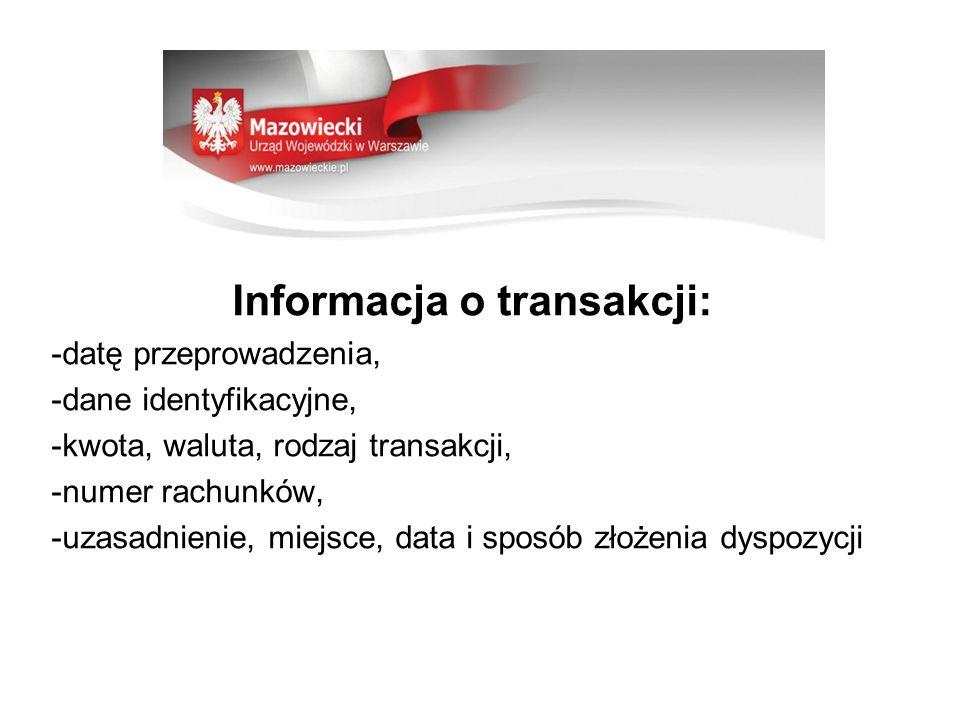 Informacja o transakcji: