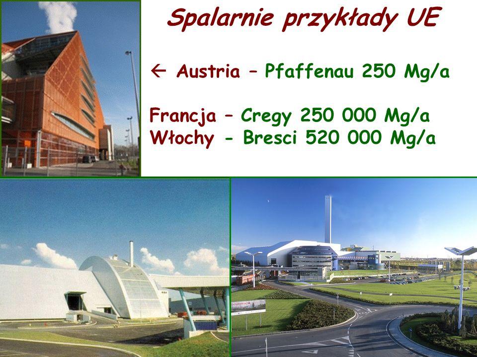  Austria – Pfaffenau 250 Mg/a Francja – Cregy 250 000 Mg/a