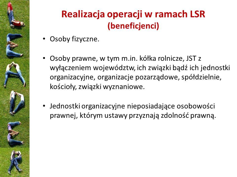 Realizacja operacji w ramach LSR (beneficjenci)