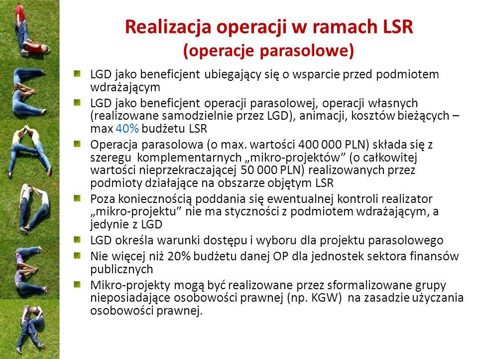 Realizacja operacji w ramach LSR (operacje parasolowe)