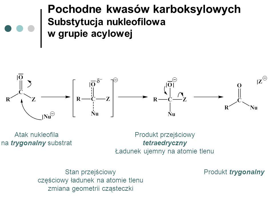 Pochodne kwasów karboksylowych Substytucja nukleofilowa w grupie acylowej