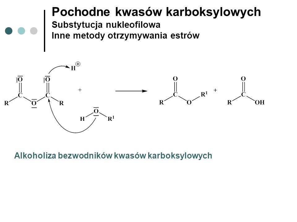 Pochodne kwasów karboksylowych Substytucja nukleofilowa Inne metody otrzymywania estrów