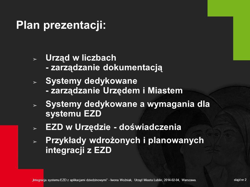 Plan prezentacji: Urząd w liczbach - zarządzanie dokumentacją