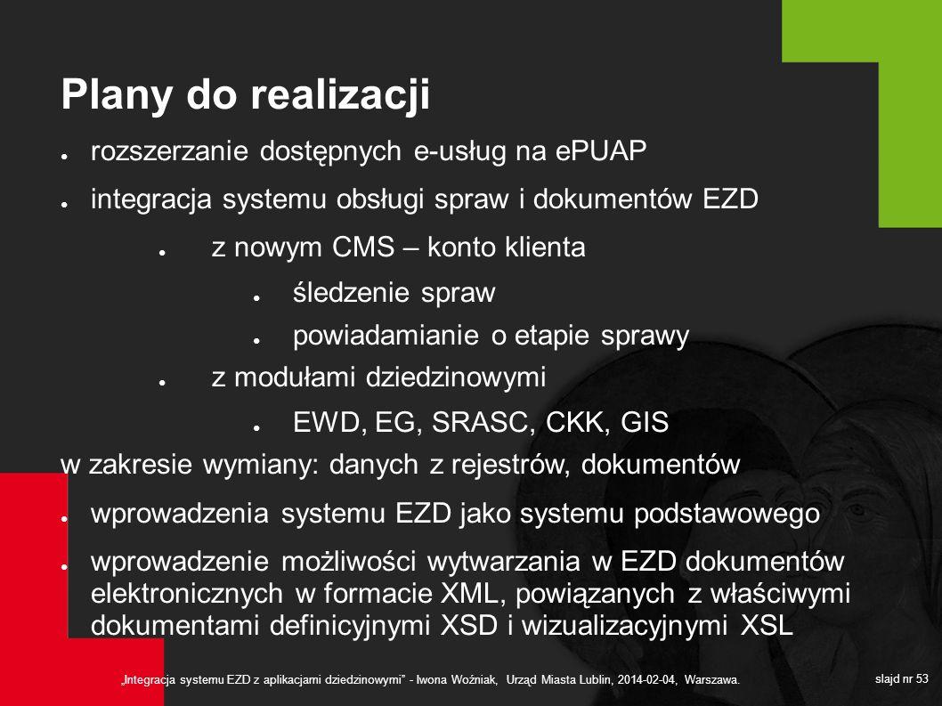 Plany do realizacji rozszerzanie dostępnych e-usług na ePUAP