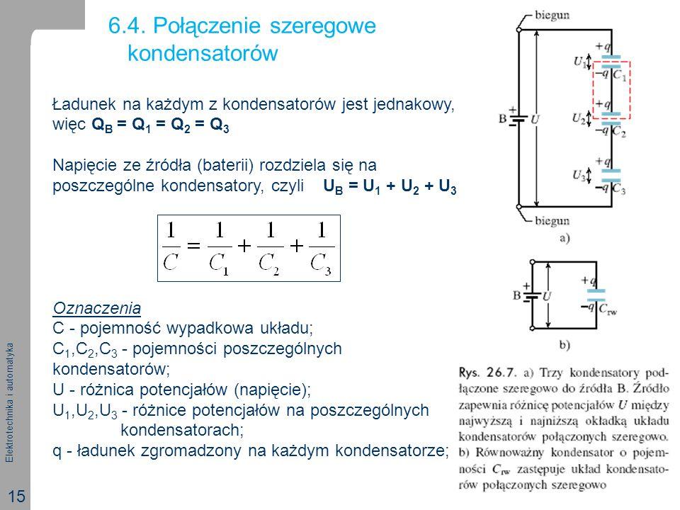 6.4. Połączenie szeregowe kondensatorów