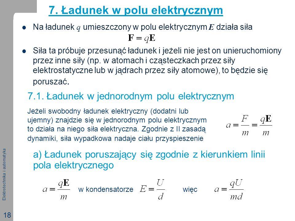 7. Ładunek w polu elektrycznym