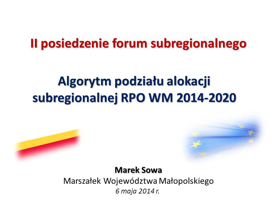 II posiedzenie forum subregionalnego