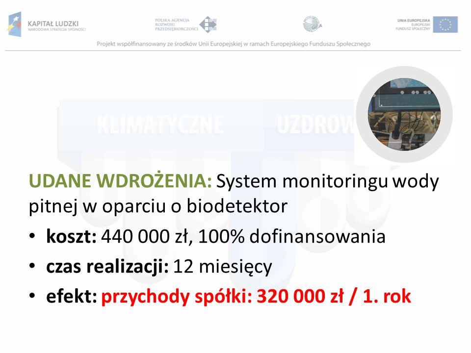 UDANE WDROŻENIA: System monitoringu wody pitnej w oparciu o biodetektor