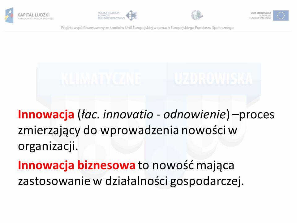 Innowacja (łac. innovatio - odnowienie) –proces zmierzający do wprowadzenia nowości w organizacji.