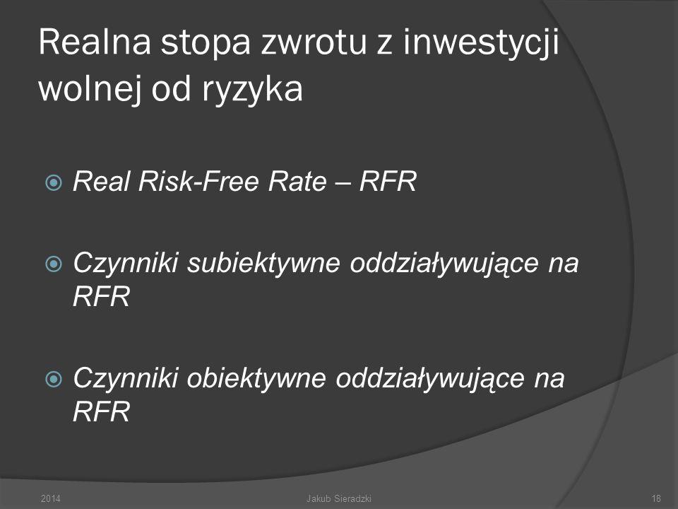 Realna stopa zwrotu z inwestycji wolnej od ryzyka