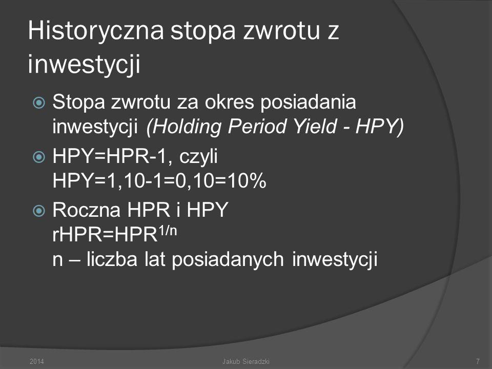Historyczna stopa zwrotu z inwestycji