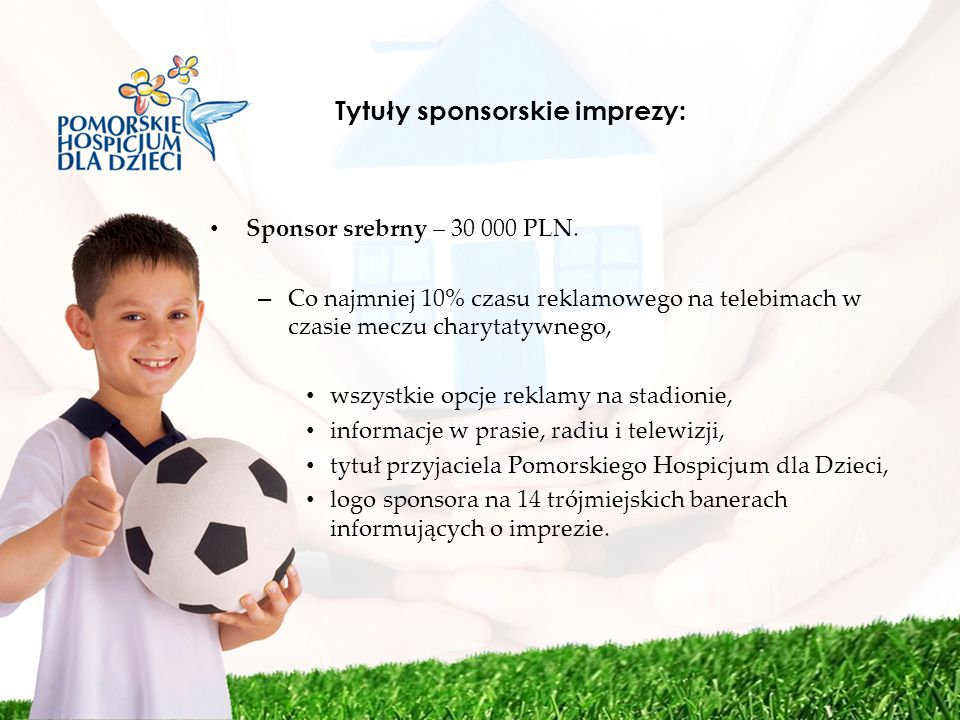 Tytuły sponsorskie imprezy: