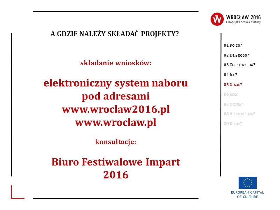 elektroniczny system naboru Biuro Festiwalowe Impart 2016