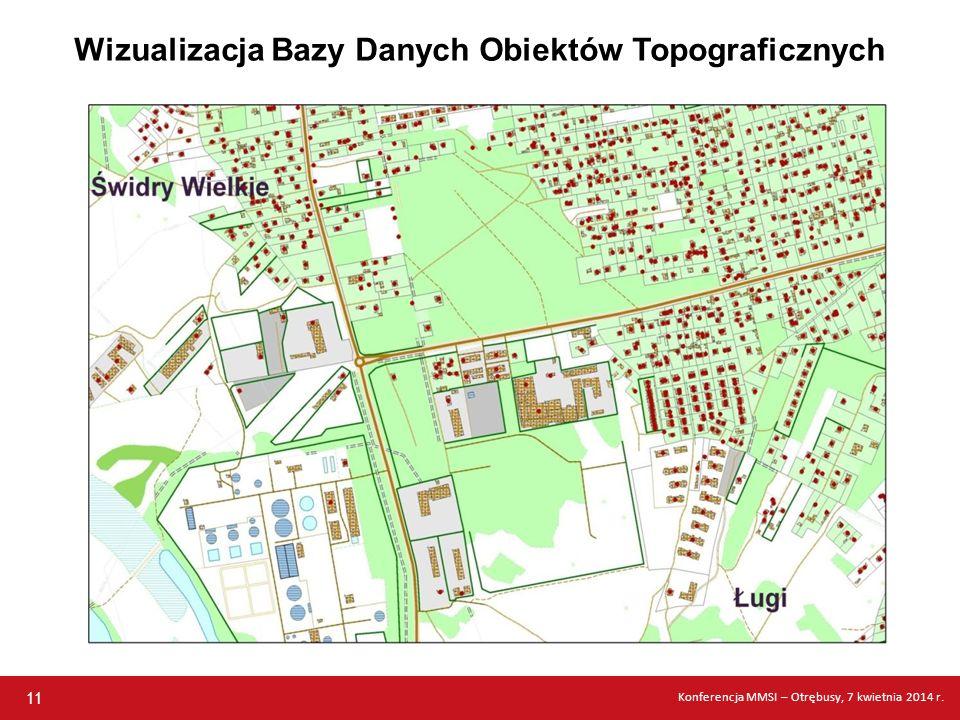 Wizualizacja Bazy Danych Obiektów Topograficznych