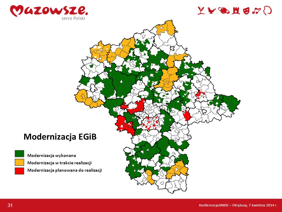Modernizacja EGiB Modernizacja wykonana