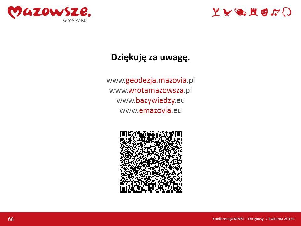 Dziękuję za uwagę. www. geodezja. mazovia. pl www. wrotamazowsza