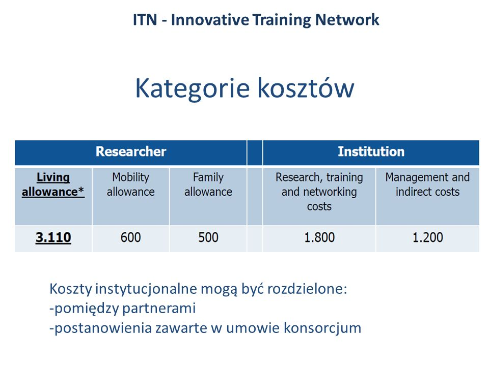 ITN - Innovative Training Network