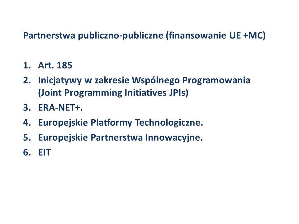 Partnerstwa publiczno-publiczne (finansowanie UE +MC)