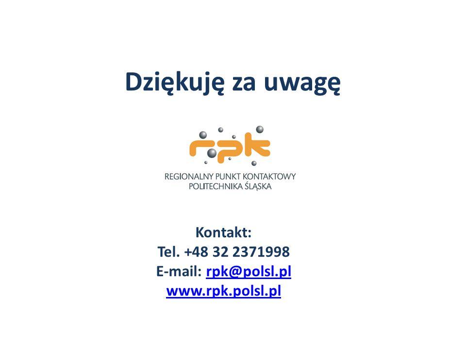 Kontakt: Tel. +48 32 2371998 E-mail: rpk@polsl.pl www.rpk.polsl.pl