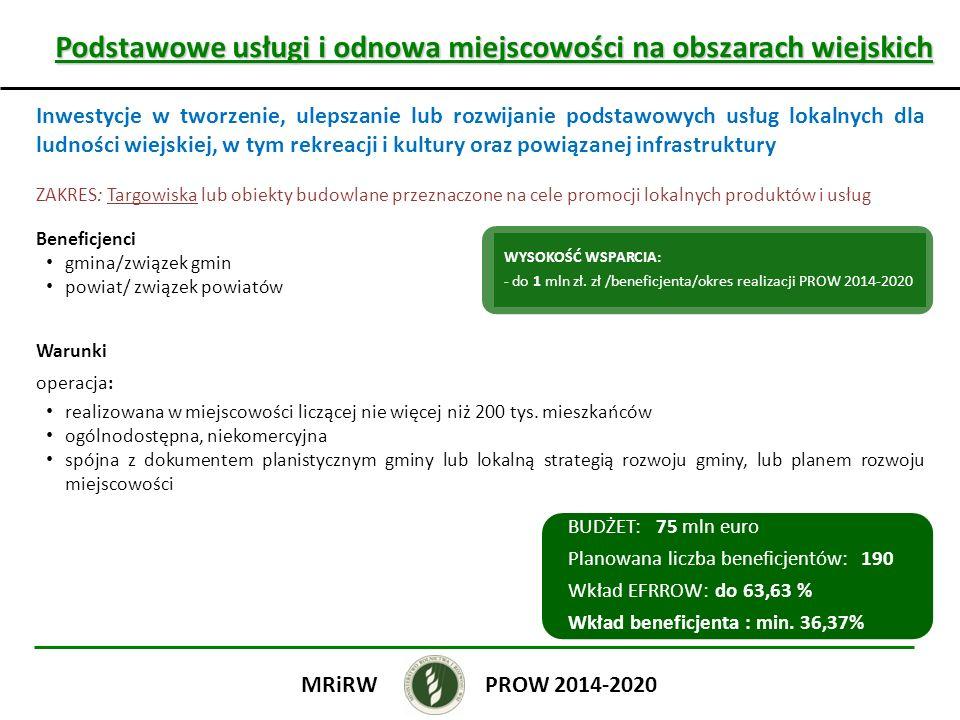 Podstawowe usługi i odnowa miejscowości na obszarach wiejskich