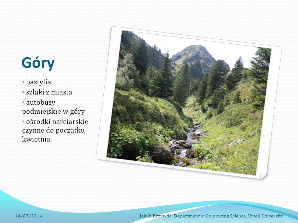 Góry bastylia szlaki z miasta autobusy podmiejskie w góry