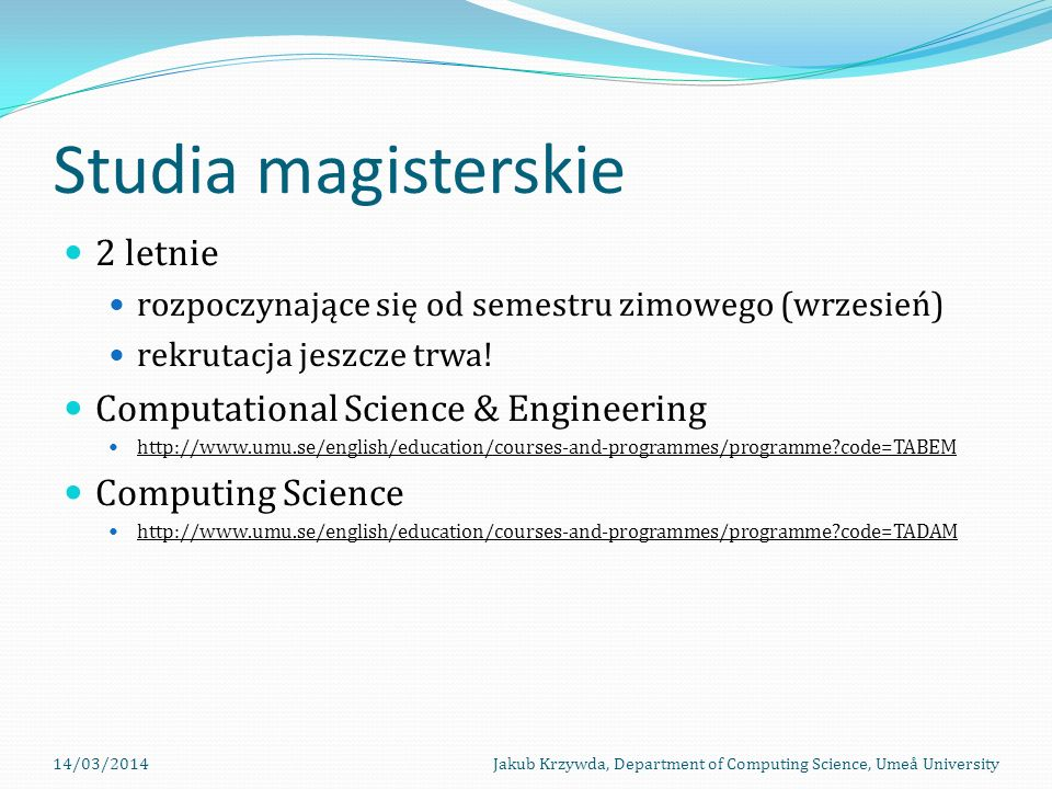 Studia magisterskie 2 letnie Computational Science & Engineering